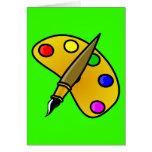 1194983991962367982paint.svg Artist palette colour Greeting Card