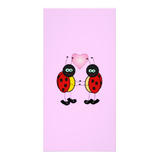 1195423889296956647Machovka_lady_bugs svg Personalized Photo Card
