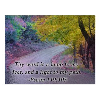 119:105 DEL SALMO THY PALABRA - ENCIÉNDASE A MI TR POSTALES