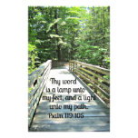 119:105 del salmo Thy palabra es una lámpara… Papeleria