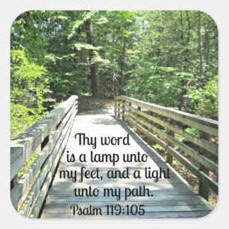 119 105 del salmo Thy palabra es una lámpara… Colcomanias Cuadradass