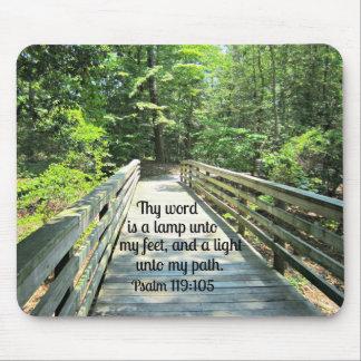119:105 del salmo Thy palabra es una lámpara… Tapete De Raton