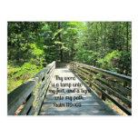 119:105 del salmo Thy palabra es una lámpara… Tarjetas Postales