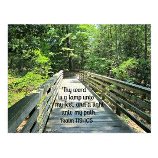 119 105 del salmo Thy palabra es una lámpara… Tarjetas Postales