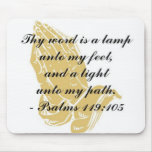 119:105 Mousepad de los salmos Tapete De Raton
