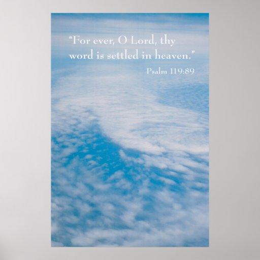 119:89 del salmo póster