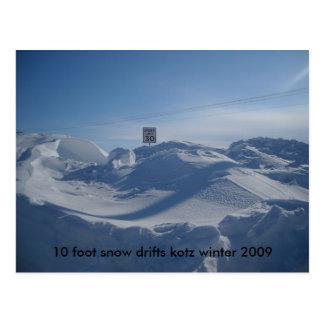 119, nieve de 10 pies deriva el invierno 2009 del postal