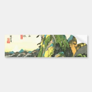 11. 箱根宿, 広重 Hakone-juku, Hiroshige, Ukiyo-e Pegatina Para Auto