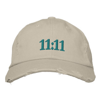11:11 EMBROIDERED BASEBALL CAP
