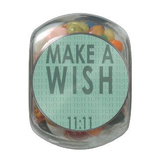 11-11 haga un tarro del caramelo del deseo frascos de cristal