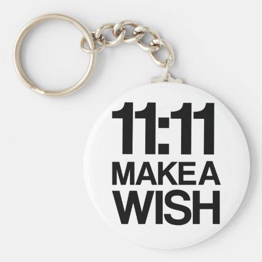 11:11 MAKE A WISH keychain