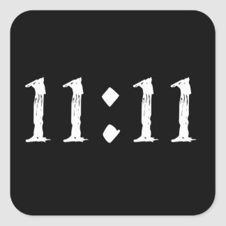11:11 SQUARE STICKER