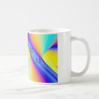 11/12/13 arco iris taza blanca clásica de 11 onzas