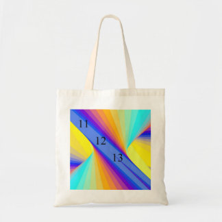 11/12/13 Rainbow Budget Tote Canvas Bags