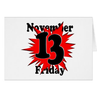11-13  Friday the 13th Card