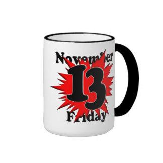 11-13 viernes el décimotercero tazas de café
