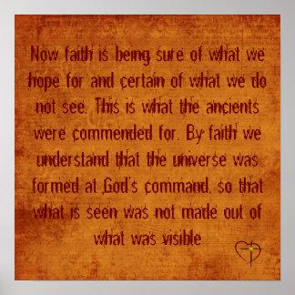 11:1 de los hebreos - 3 póster