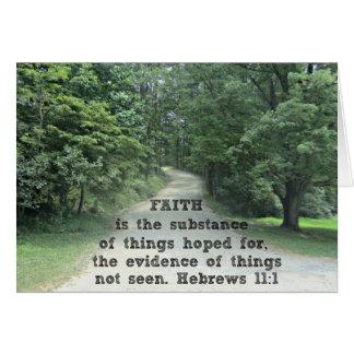 11:1 de los hebreos tarjeta de felicitación