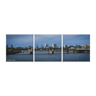 11.5 x 36 Morrison Bridge Portland, Oregon Canvas Print