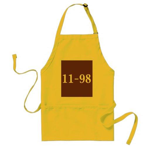 11-98 regalos del oficial de la reunión delantal