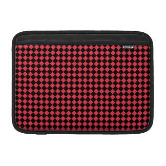 """11"""" a cuadros negro y rojo funda macbook air"""