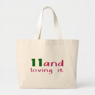 11 and loving it jumbo tote bag