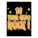 ¡11 años de la roca! Tarjeta de felicitación (rosa
