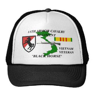 "11 Armor Cavalry""Black Horse"" Veteran Ball Caps Trucker Hat"