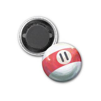 11 Ball 1 Inch Round Magnet