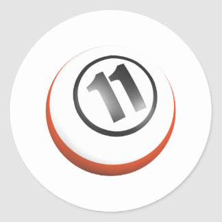 11 Ball Classic Round Sticker