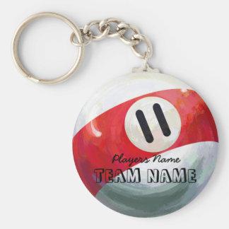 11 Ball Keychain