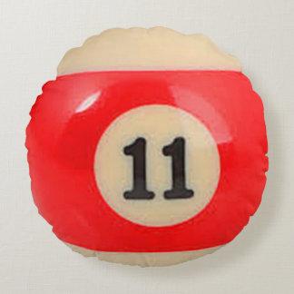 """11 Ball"" pool ball design Round Pillow"