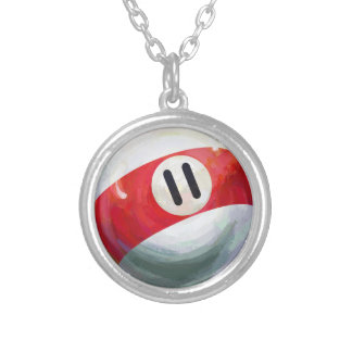 11 Ball Silver Plated Necklace