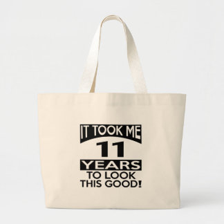 11 Birthday Designs Jumbo Tote Bag