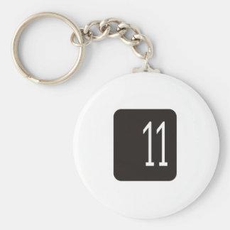 #11 Black Square Keychain