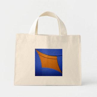 11 bolso azul y anaranjado del diamante bolsa