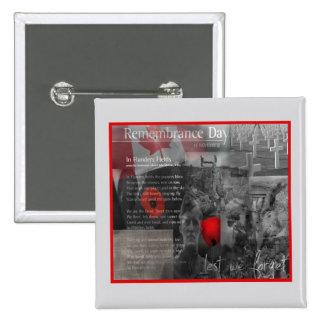 11 de noviembre botón del día de la conmemoración