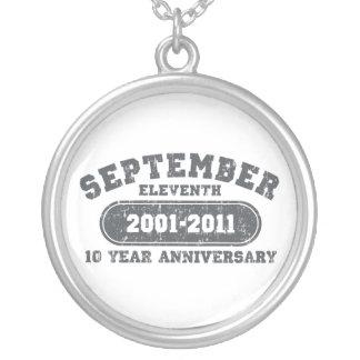 11 de septiembre - aniversario 2011 colgante redondo
