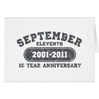 11 de septiembre - aniversario 2011 tarjeta de felicitación
