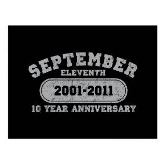 11 de septiembre - aniversario 2011 tarjetas postales