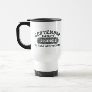 11 de septiembre - aniversario 2011 taza de viaje de acero inoxidable