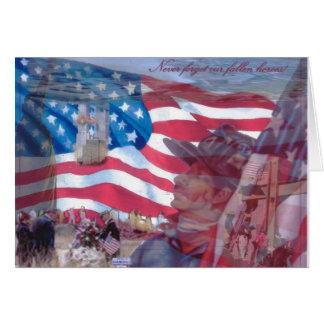 11 de septiembre collage tarjeta pequeña