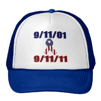 11 de septiembre de 2001 aniversario de diez años gorras