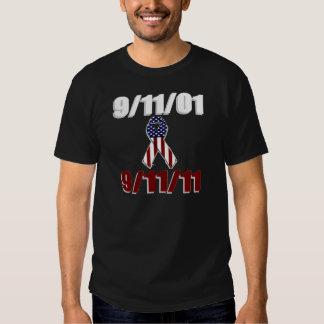 11 de septiembre de 2001 camiseta de diez años del remera