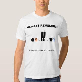 11 de septiembre de 2001 conmemoración de la camisas
