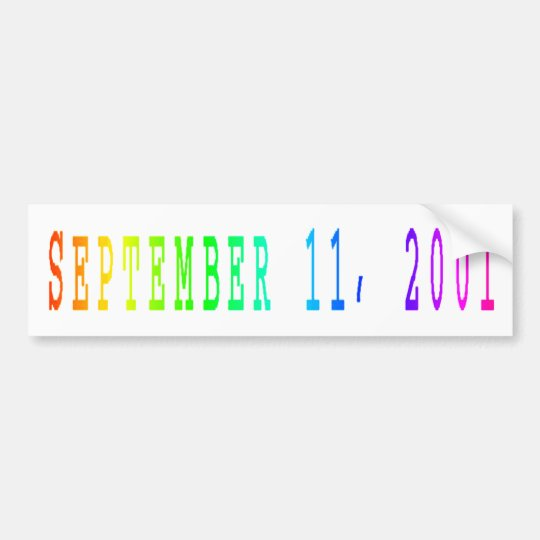 11 de septiembre de 2001 pegatina para auto