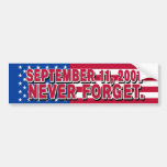 11 de septiembre de 2001 pegatina para el parachoq pegatina para auto