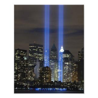 11 de septiembre impresión de la conmemoración de  fotografías