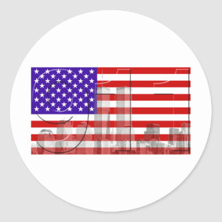 11 de septiembre pegatina redonda