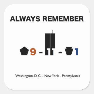 11 de septiembre pegatina de la conmemoración